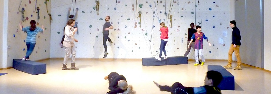 "photo of a rehearsal of ""Get moving!"" at E-Werk Bad Homburg, photo: Lea Meier at E-Werk Bad Homburg, photo: Lea Meier"